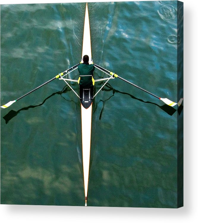 Adult Acrylic Print featuring the photograph Scull by Gerard Hermand