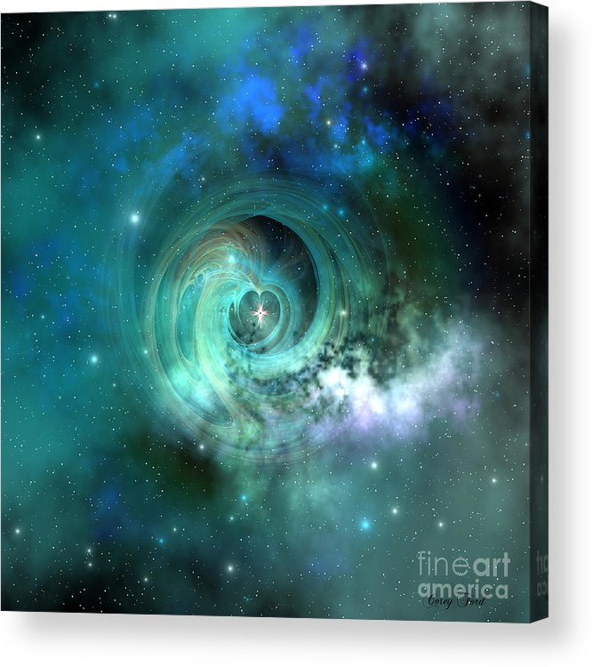 Universe 3d Acrylic Print featuring the painting Stellar Matter by Corey Ford
