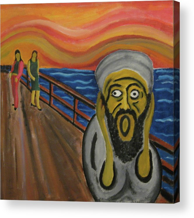 Terror Acrylic Print featuring the painting The Real Terror by Darren Stein