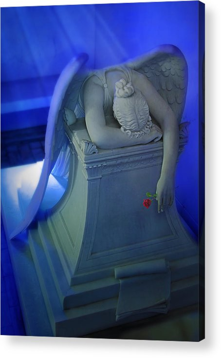 Acrylic Print featuring the photograph Weeping Angel Front View by Don Lovett