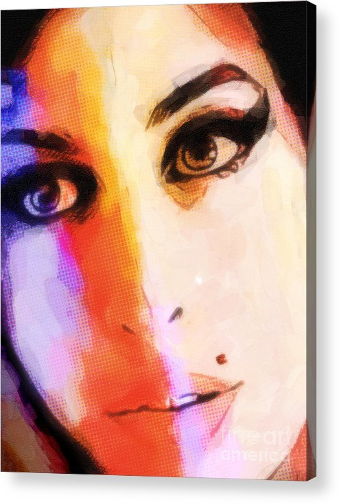 Amy Winehouse Art Acrylic Print featuring the painting Amy Pop-art by Lutz Baar