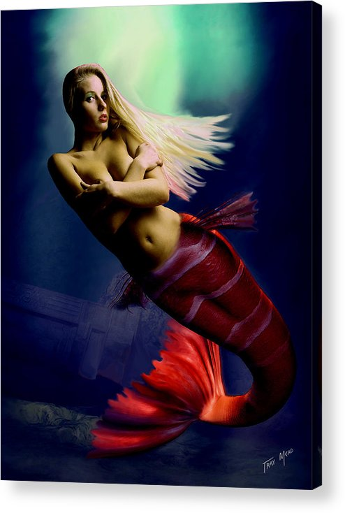Erotic Acrylic Print featuring the painting Midnight Delight by Tray Mead