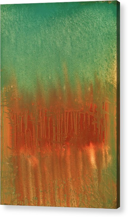 Orange Acrylic Print featuring the painting Offering by Jigme Namgyel