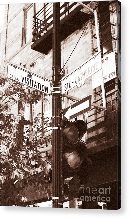 Montreal Acrylic Print featuring the photograph Rue Visitation by John Rizzuto