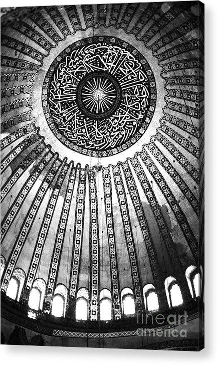 Historic Sophia Ceiling Acrylic Print featuring the photograph Historic Sophia Ceiling by John Rizzuto