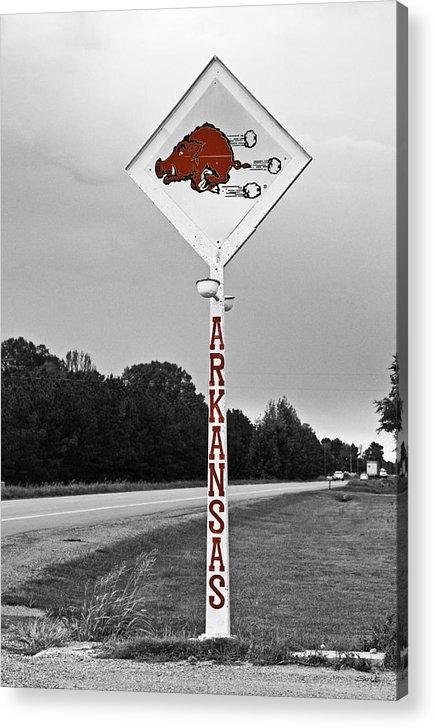 Arkansas Acrylic Print featuring the photograph Hog Sign by Scott Pellegrin