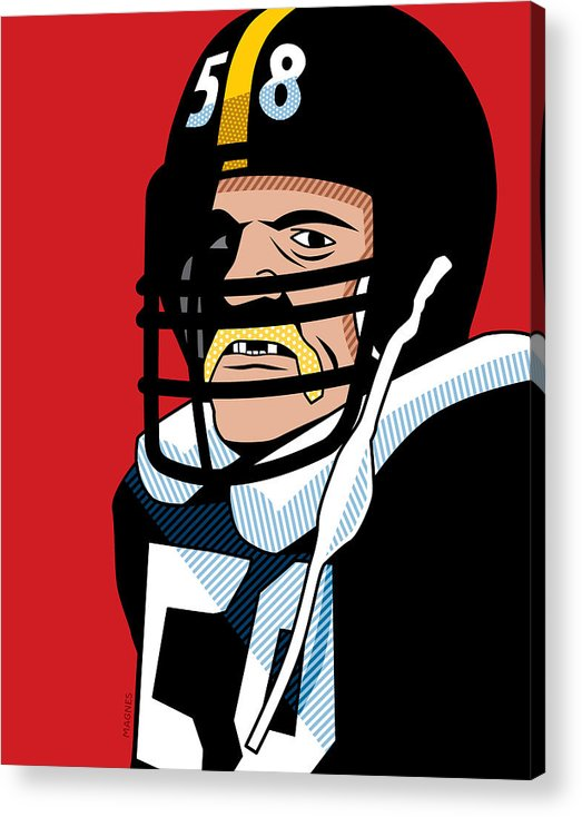 Graphic Acrylic Print featuring the digital art Jack Lambert by Ron Magnes