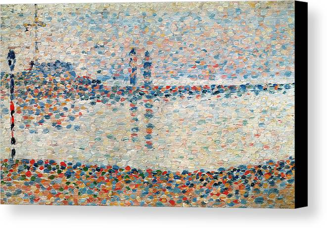 Seurat Canvas Print featuring the painting Study For The Channel At Gravelines Evening by Georges Pierre Seurat
