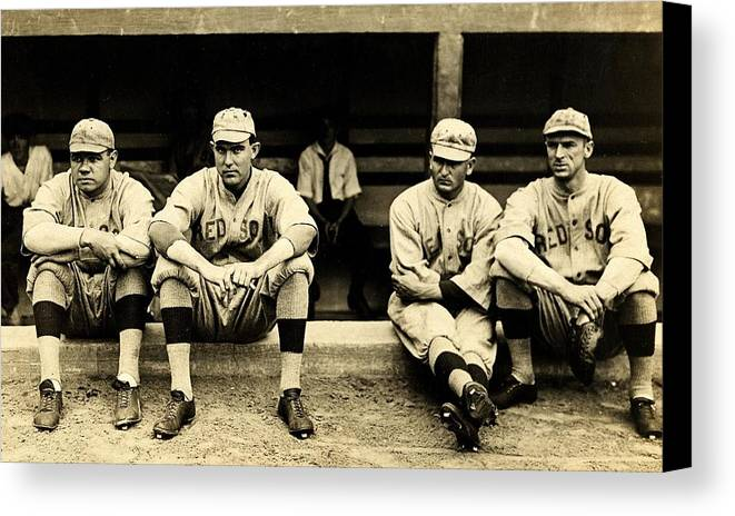 Babe Ruth Canvas Print featuring the photograph Early Red Sox by Benjamin Yeager