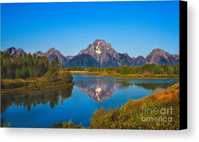 Grand Teton Canvas Print featuring the photograph Oxbow Bend II by Robert Bales