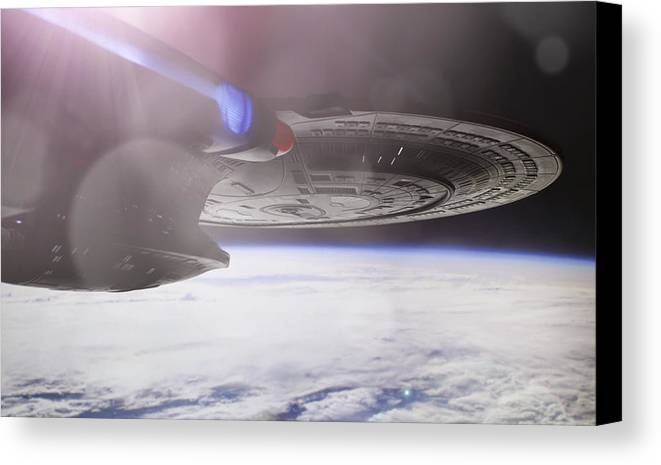 Star Trek Canvas Print featuring the photograph Star Trek - A New Civilization by Jason Politte