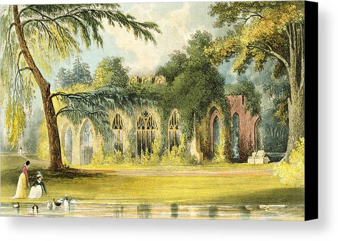 Ruins Canvas Print featuring the painting The Ruins  Frogmore by John Gendall