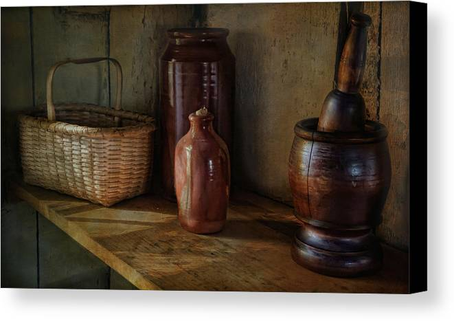Country Canvas Print featuring the photograph Country Cupboard by Robin-lee Vieira