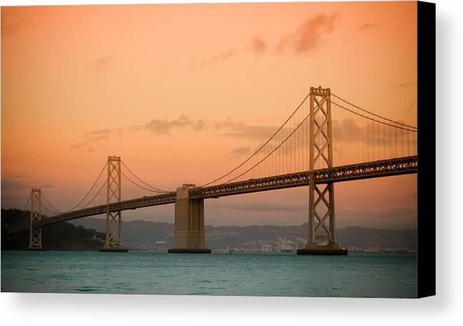 Bay Bridge Canvas Print featuring the photograph Bay Bridge by Mandy Wiltse
