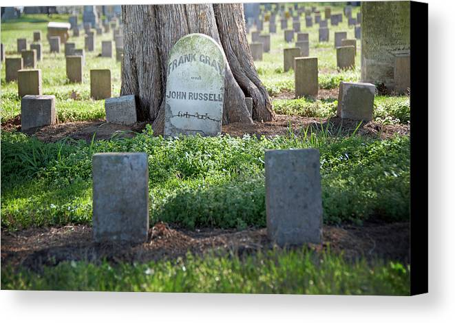 Funerary Canvas Print featuring the photograph Frank And John by Steven Michael