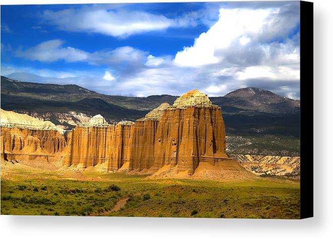 Capitol Reef National Canvas Print featuring the photograph Capitol Reef National Park Cathedral Valley by Mark Smith