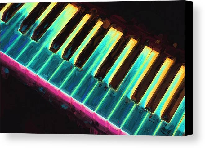 Piano Canvas Print featuring the painting Colorful Keys by Bob Orsillo
