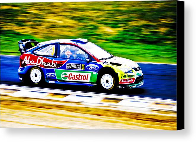 2010 Ford Focus Canvas Print featuring the photograph Ford Focus Wrc by motography aka Phil Clark