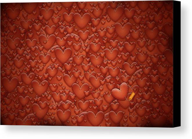 Abstract Canvas Print featuring the drawing Love Patches by Gianfranco Weiss