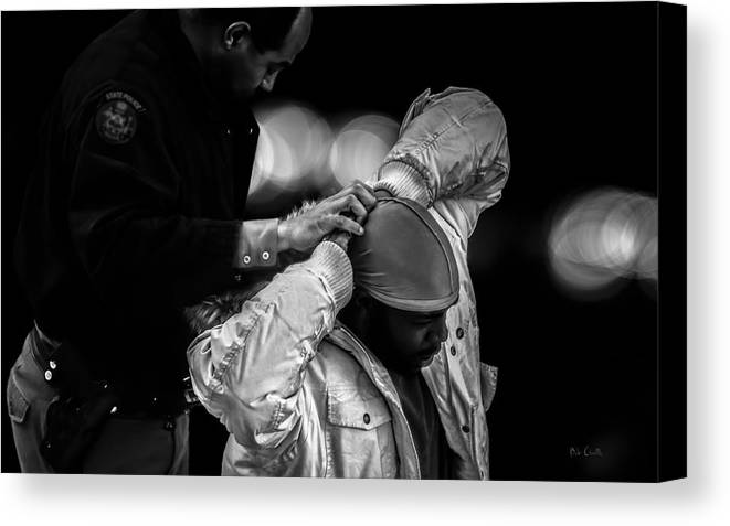 Police Canvas Print featuring the photograph Suspect by Bob Orsillo