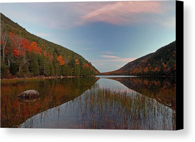 Maine Canvas Print featuring the photograph Bubble Pond At Autumn Glory by Juergen Roth