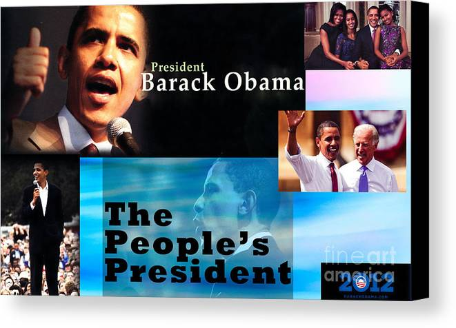 President Canvas Print featuring the photograph The People's President by Terry Wallace