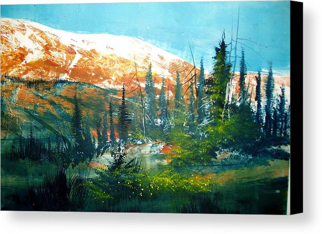 Landscape Canvas Print featuring the mixed media Mountain Light by Robert Carver