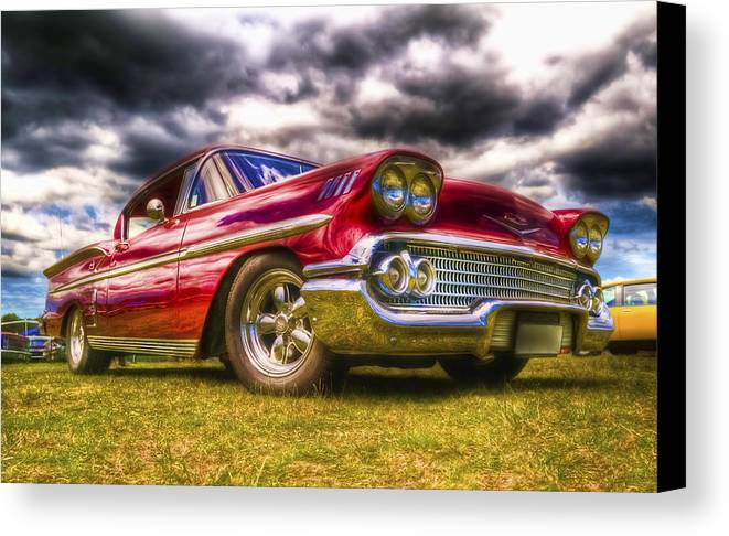 Chev Impala Canvas Print featuring the photograph 1958 Chevrolet Impala by Phil 'motography' Clark