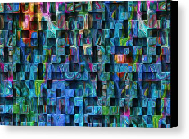 Abstract Canvas Print featuring the painting Cubed 3 by Jack Zulli