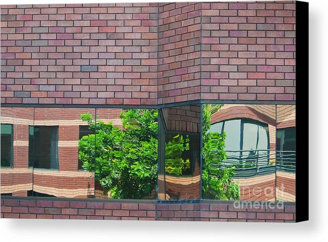 Architecture Canvas Print featuring the photograph Wall Warp by Dan Holm