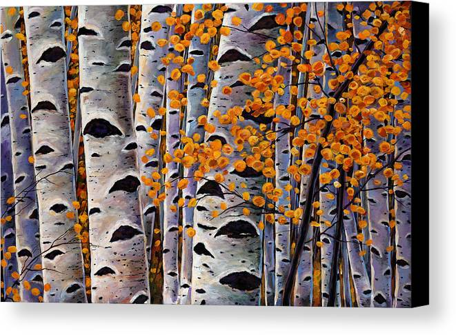 Aspen Canvas Print featuring the painting Effulgent October by Johnathan Harris