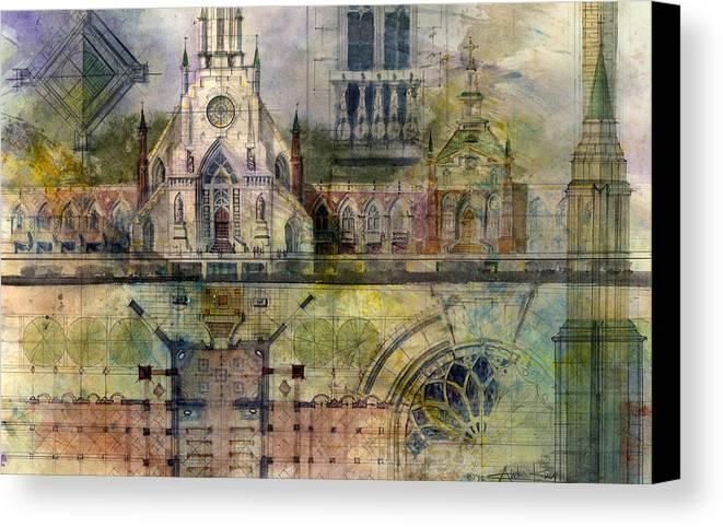 Gothic Canvas Print featuring the painting Gothic by Andrew King