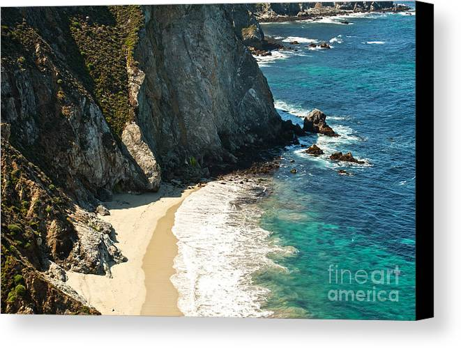 Point Lobos Canvas Print featuring the photograph China Cove At Point Lobos State Beach by Artist and Photographer Laura Wrede