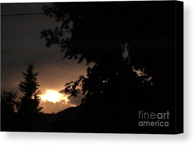 After The Storm Canvas Print featuring the photograph Eerie Sky After The Storm by Gail Matthews
