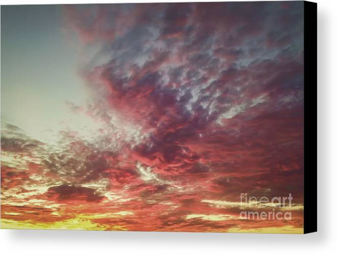 Black & White Canvas Print featuring the photograph Fire Sky by Holly Martin