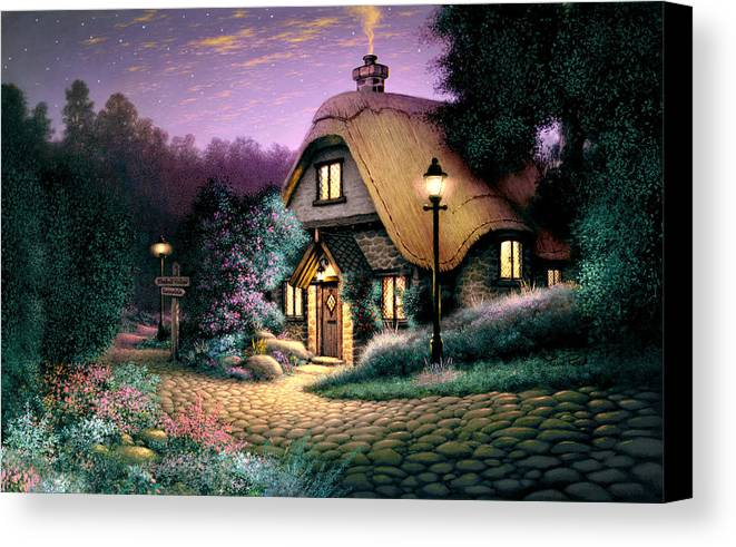 Architecture Canvas Print featuring the photograph Hillcrest Cottage by Steve Read