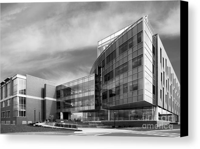 New York Canvas Print featuring the photograph Rochester Institute Of Technology Institute Hall by University Icons