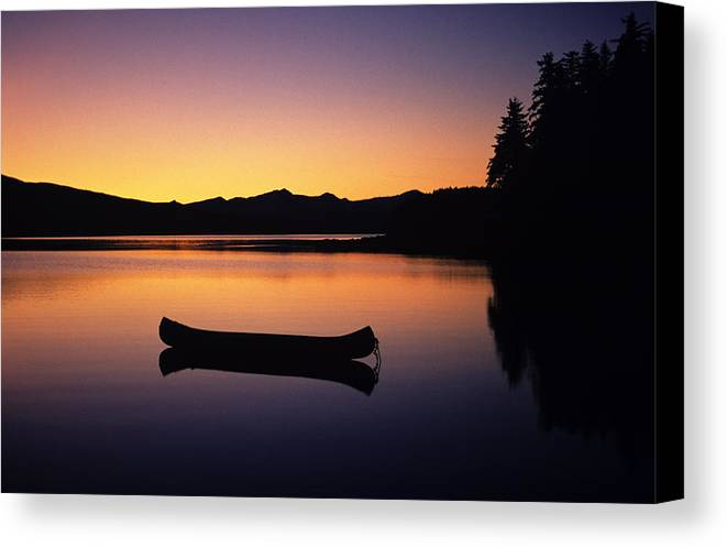 Adventure Canvas Print featuring the photograph Calming Canoe by John Hyde - Printscapes