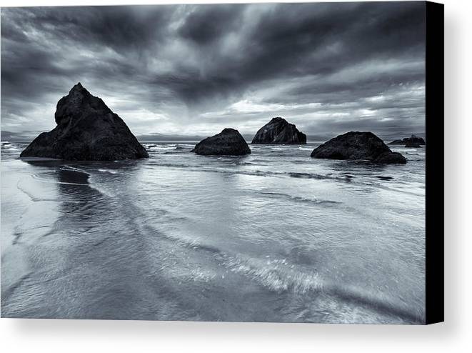 Beach Canvas Print featuring the photograph Clearing Storm by Mike Dawson