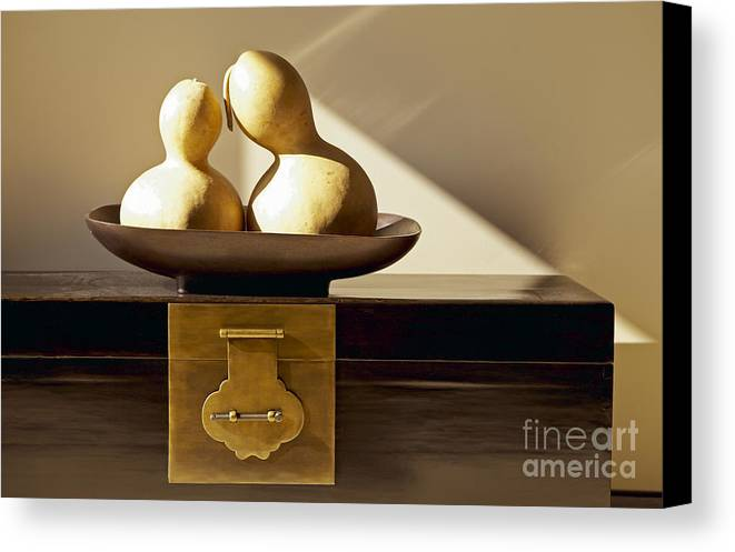 Art Canvas Print featuring the photograph Gourds Still Life II by Kyle Rothenborg - Printscapes