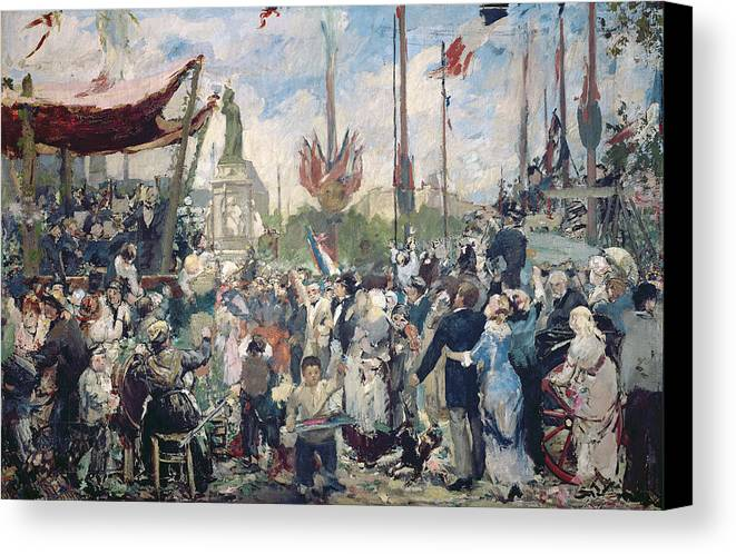Study Canvas Print featuring the painting Study For Le 14 Juillet 1880 by Alfred Roll