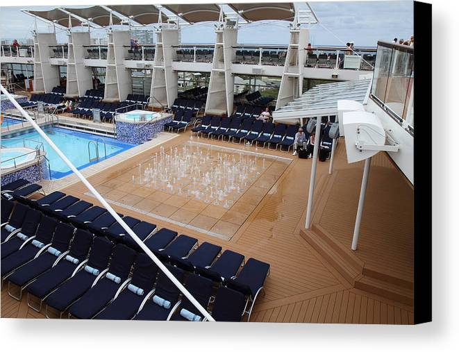 Cruise Canvas Print featuring the photograph Caribbean Cruise - On Board Ship - 12129 by DC Photographer