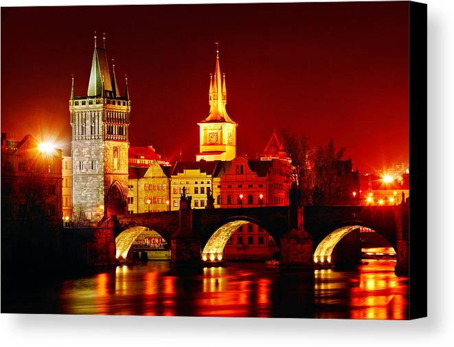 Prague Canvas Print featuring the photograph Karluv Most by John Galbo