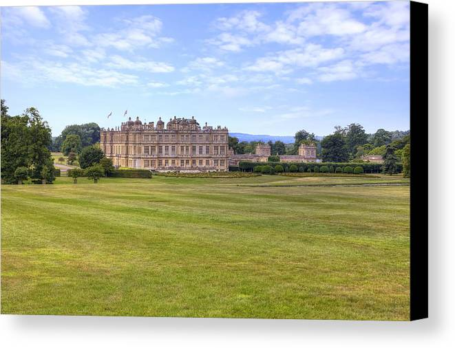 Longleat House Canvas Print featuring the photograph Longleat House - Wiltshire by Joana Kruse