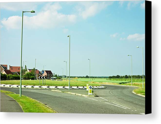 Asphalt Canvas Print featuring the photograph Modern Road by Tom Gowanlock