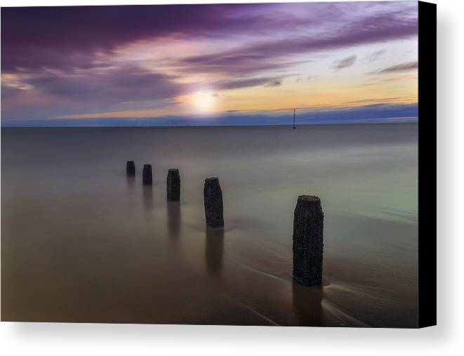 Sunset Canvas Print featuring the photograph Sunset Beach by Ian Mitchell