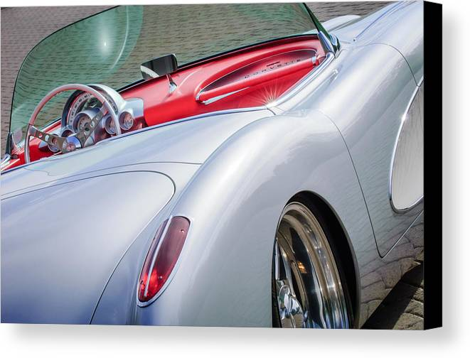 1960 Chevrolet Corvette Canvas Print featuring the photograph 1960 Chevrolet Corvette by Jill Reger