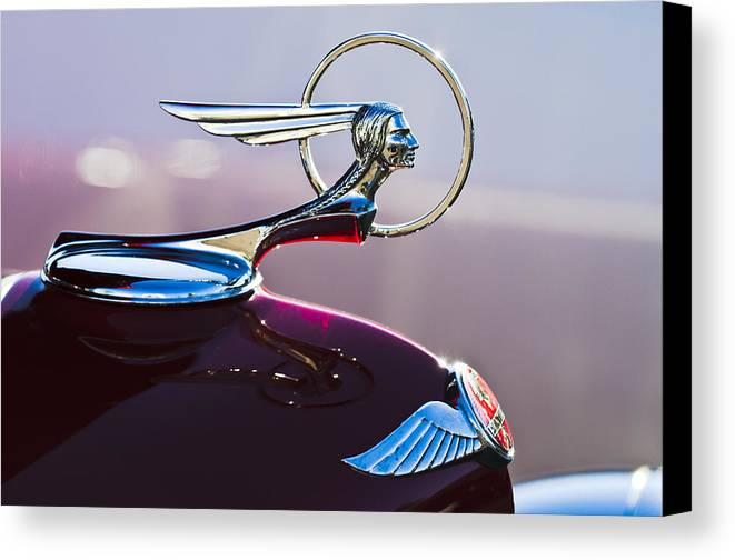 1933 Pontiac Canvas Print featuring the photograph 1933 Pontiac Hood Ornament by Jill Reger