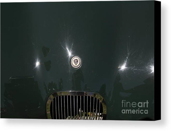 Transportation Canvas Print featuring the photograph 1952 Jaguar Xk120 Roadster 5d22968 by Wingsdomain Art and Photography