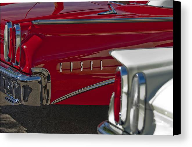 1960 Edsel Canvas Print featuring the photograph 1960 Edsel Taillight by Jill Reger